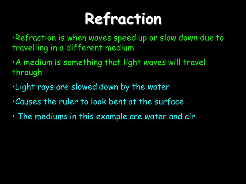 Review of ReflectionReview of ReflectionReview of ReflectionReview of Reflection 1.Two types of reflection, regular and diffuse 2.Mirrors come in 3 types: plane, convex and concave.