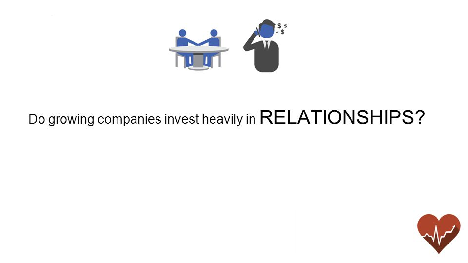 Do growing companies invest heavily in RELATIONSHIPS
