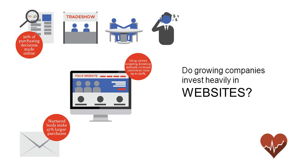 Do growing companies invest heavily in WEBSITES