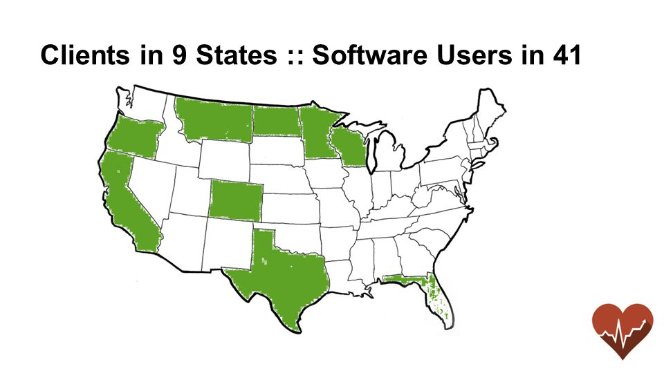 Clients in 9 States :: Software Users in 41