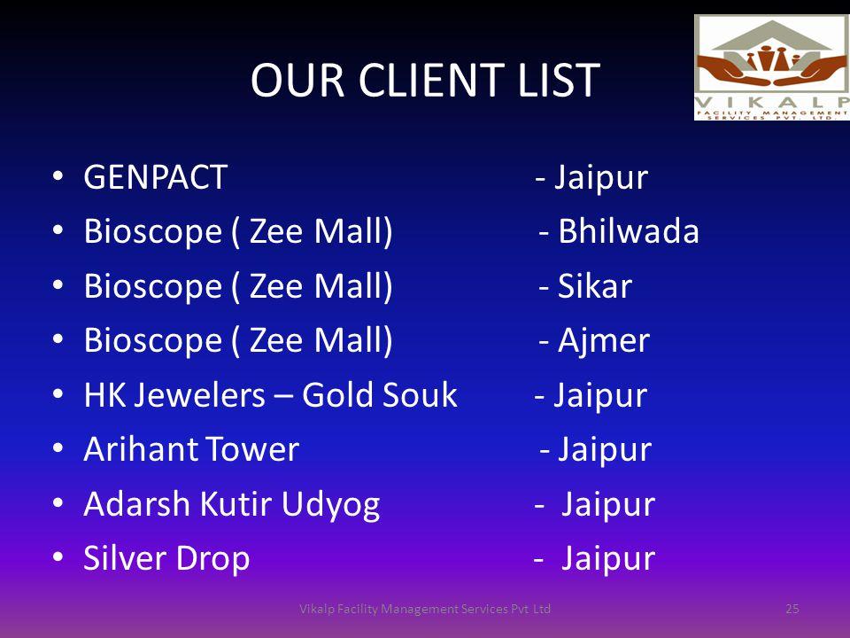Vikalp facility management services pvt Ltd Client