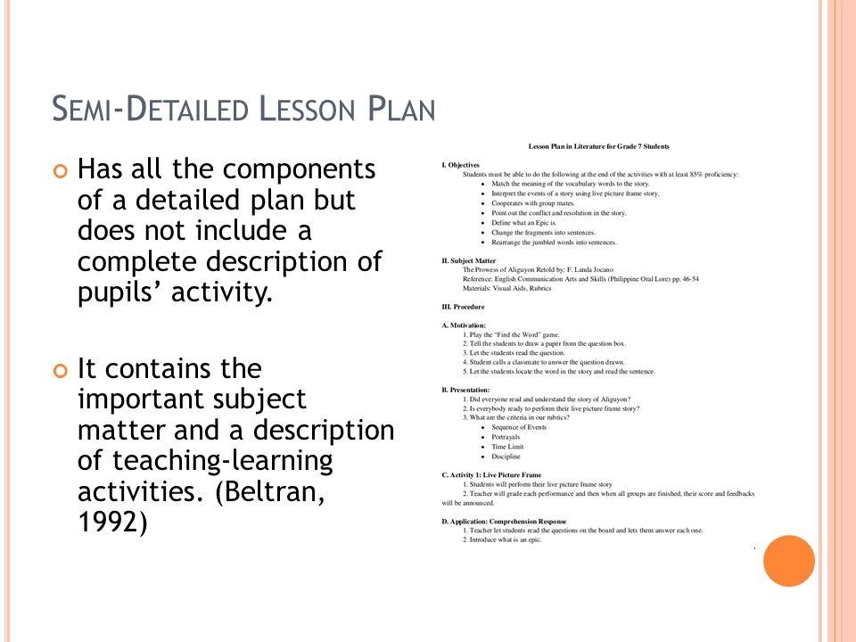 Nature Importance Of Lesson Planning By Carol Gaerlan