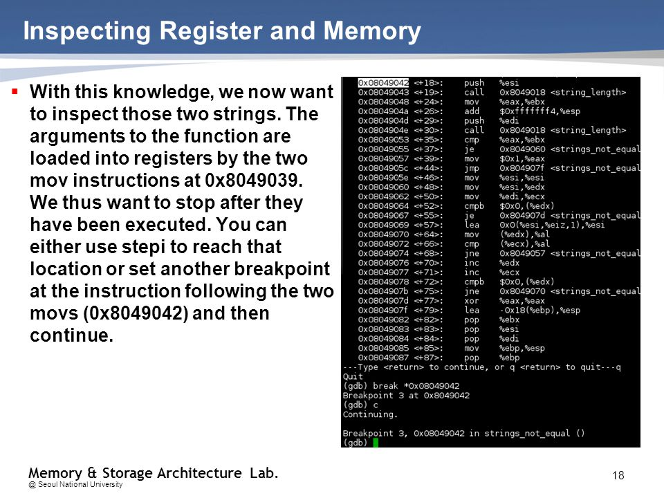 Memory Storage Architecture Seoul National University Computer