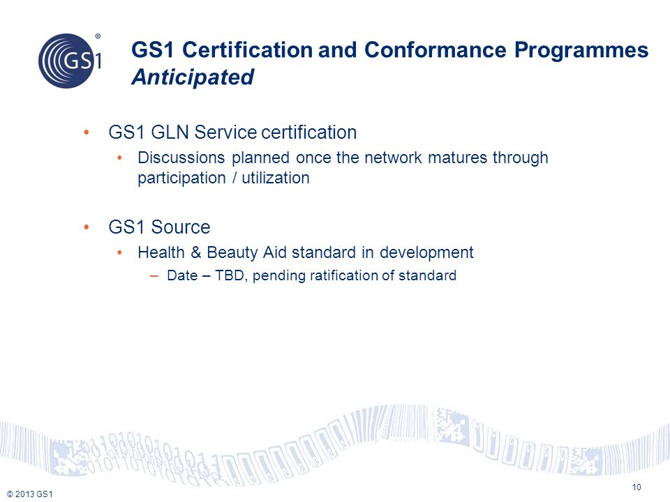 Gs1 Certification Accreditation Programmes October 2014 Rome