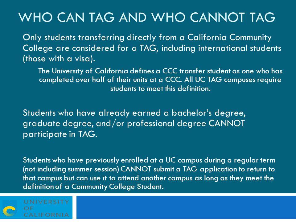 Uc Transfer Admission Guarantee Tag Uc Tag Uc Davis Uc Irvine Uc