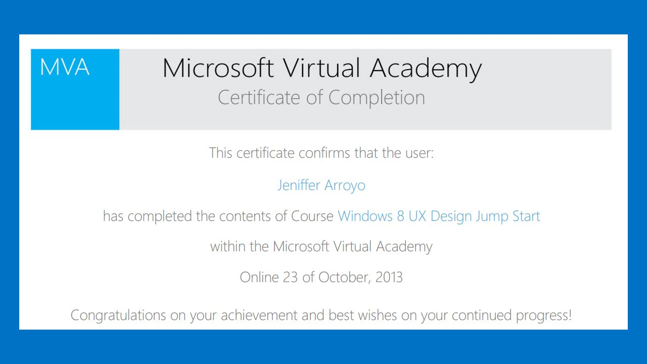 Microsoft Virtual Academy Background Graduated From Asia Pacific