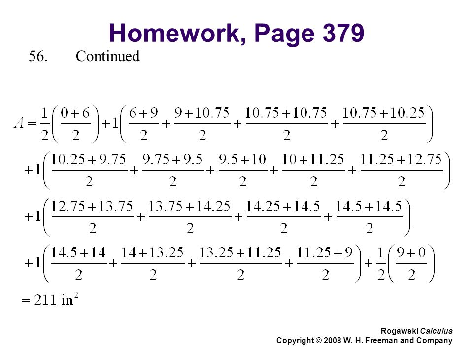 Homework, Page Continued Rogawski Calculus Copyright © 2008 W. H. Freeman and Company