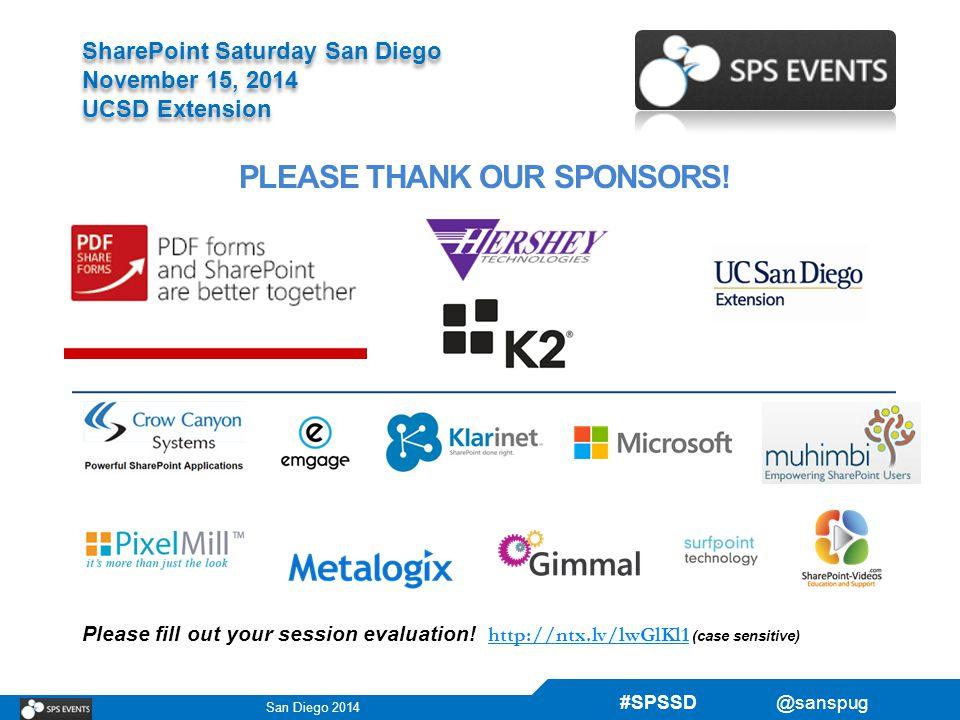 San Diego 2014 Sharepoint Saturday San Diego November 15 2014 Ucsd