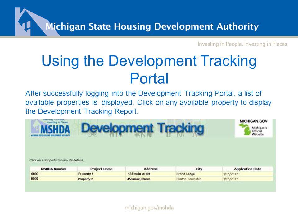 Development Tracking Tool Web Portal Christopher L  LaGrand