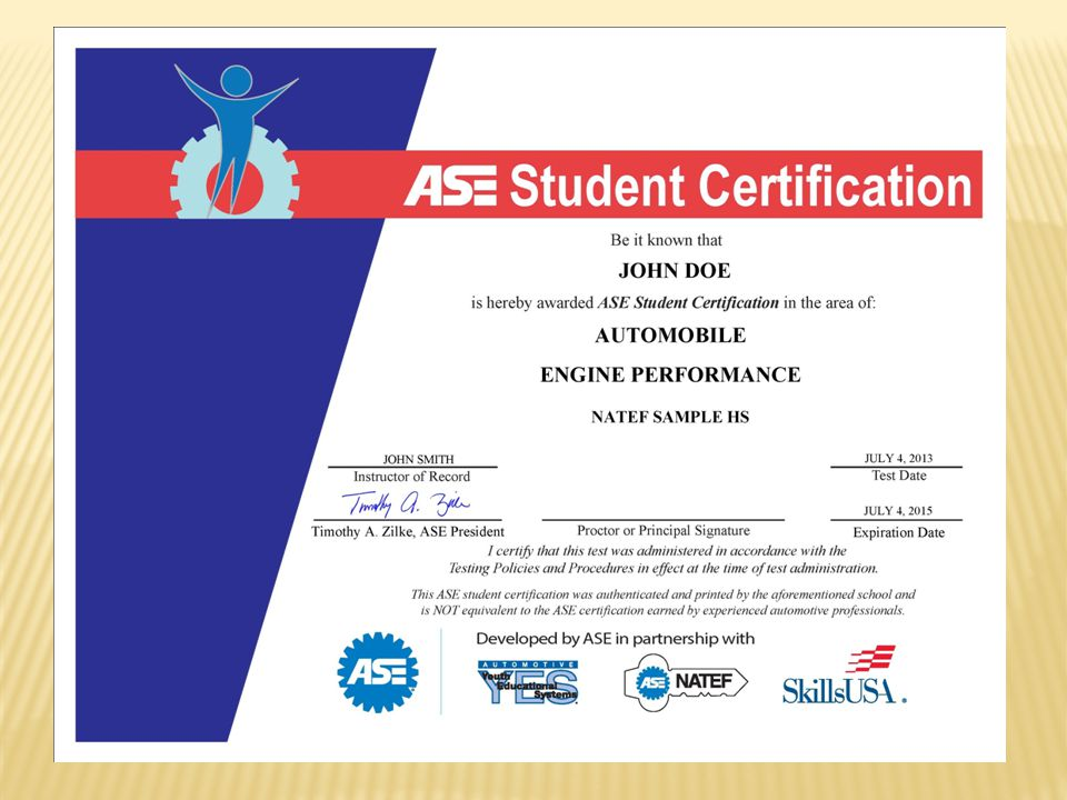 ASE Student Certification: The Gateway to a Professional