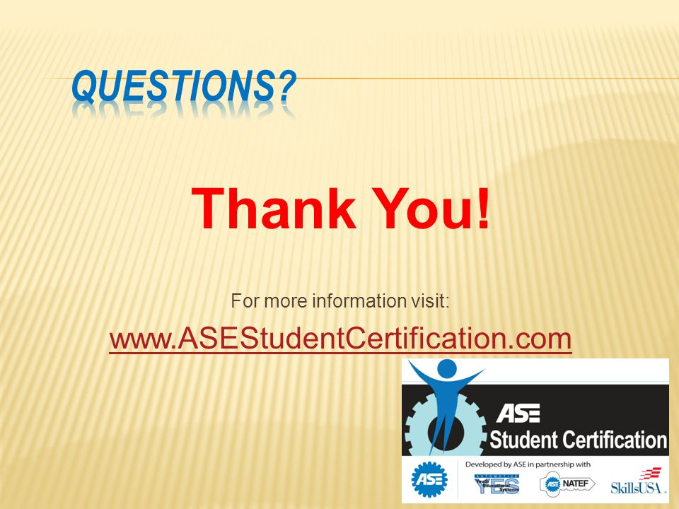 Ase Student Certification The Gateway To A Professional Credential