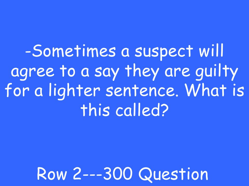 -arraignment Row Answer