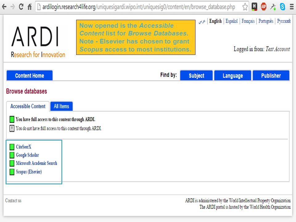 ARDI Portal/Other Resources (Module 5)  Module 5: ARDI