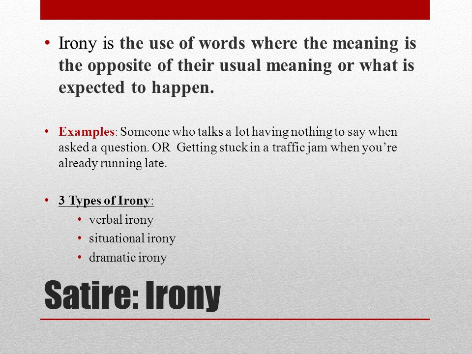 Satire Irony Parody Sarcasm Definitions Examples Ppt Download
