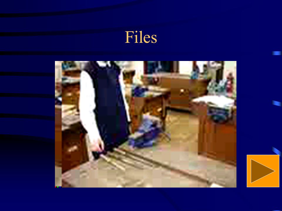 Files 2. Drawfiling It is to remove crossfiling marks to obtain a smooth surface.