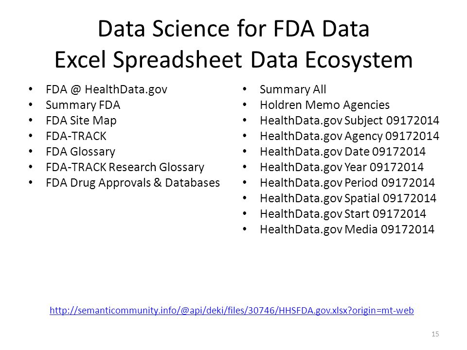 FDA Data Innovation Lab and Predictive Analytics Meetup Dr