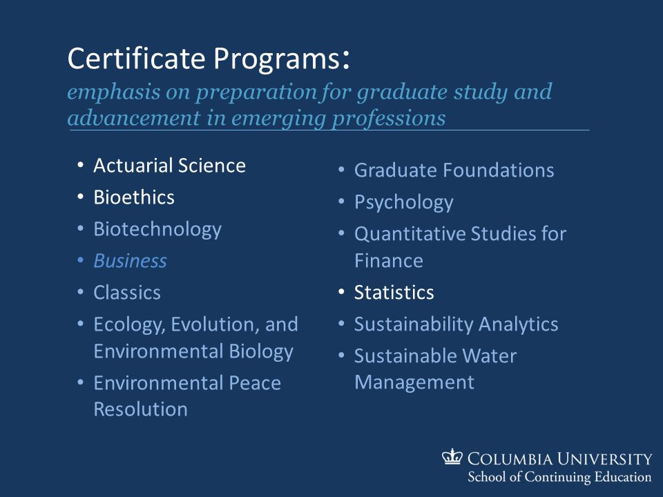 Short Term Programs At Columbia University Why Columbia University