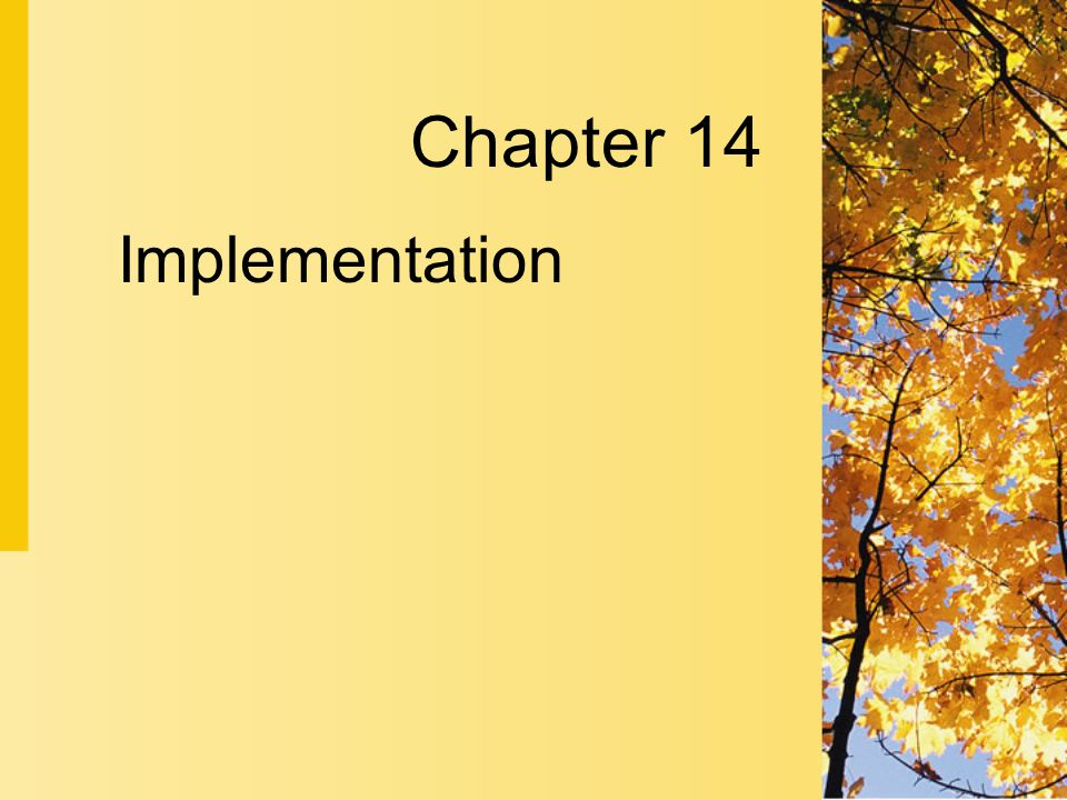 Implementation Chapter 14