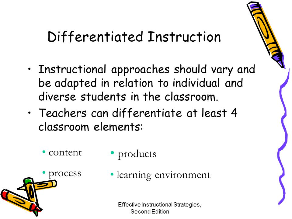 Effective Instructional Strategies From Theory To Practice Chapter 2