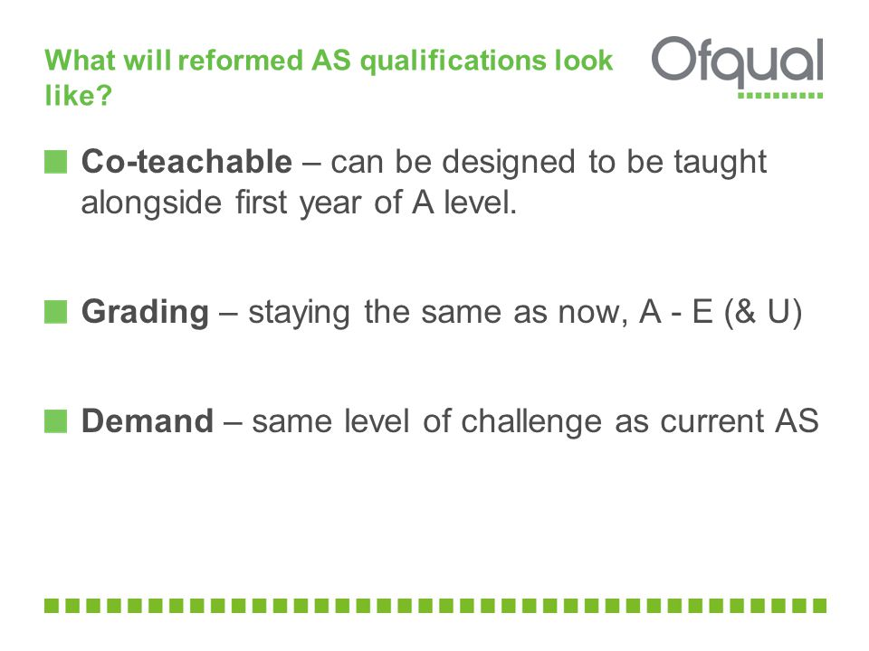 What will reformed AS qualifications look like.