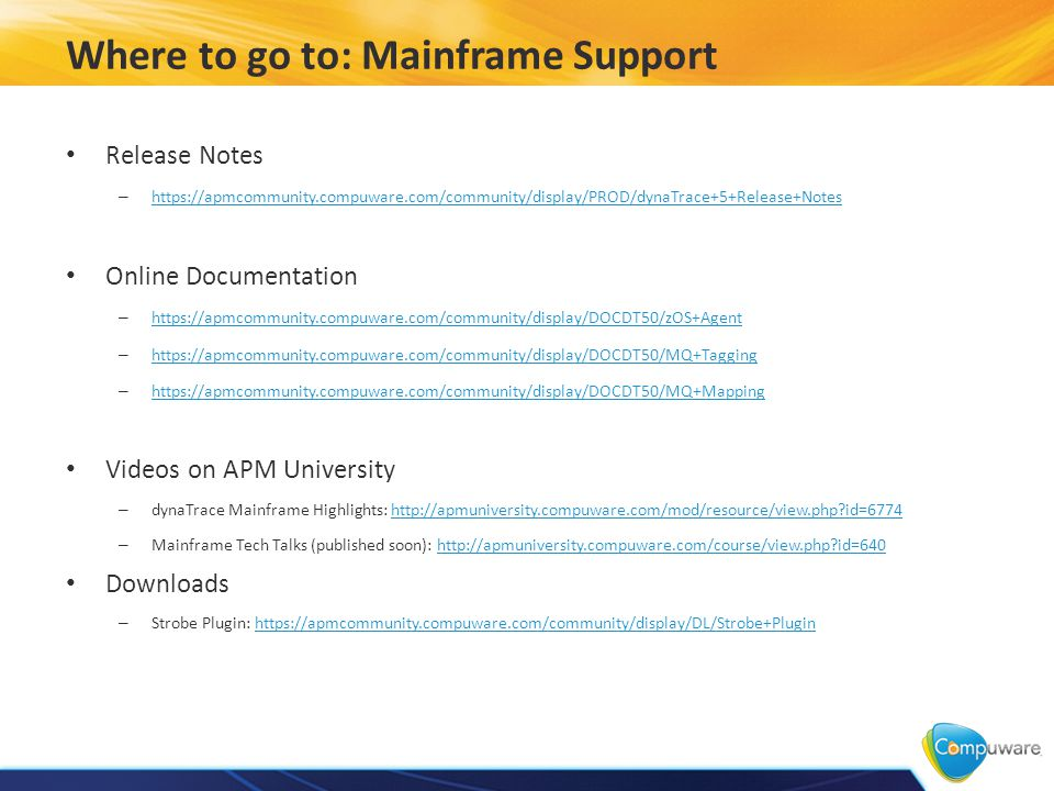 What's New in dynaTrace 5 Fall Release Mainframe Support  - ppt download