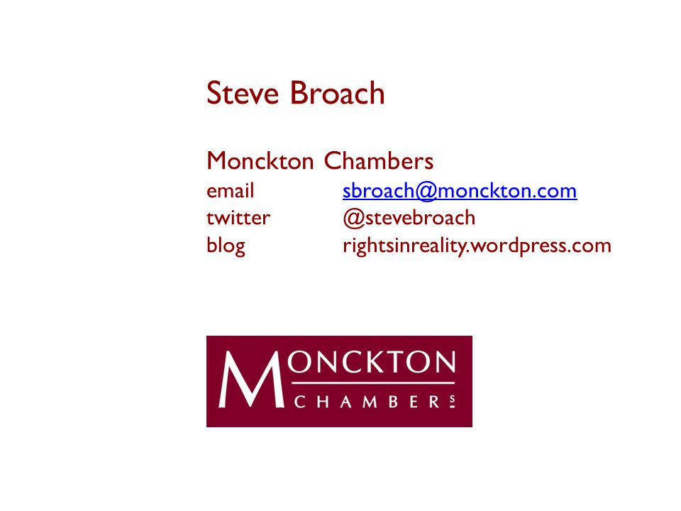 Steve Broach Monckton Chambers  blogrightsinreality.wordpress.com
