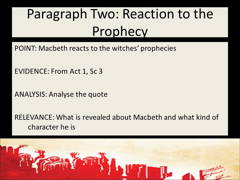 an analysis of the feeling towards macbeth and reaction to the end of the play which differ amongst  Throughout the play : a) macbeth is potrayed as a figure who is easily manipulated banquo is a person who is firm in his descision making c) macbeth is willing to do cruel and evil this to those who trust him if they are a hindrance to the fulfilment of his ambition banquo is loyal to those around him.