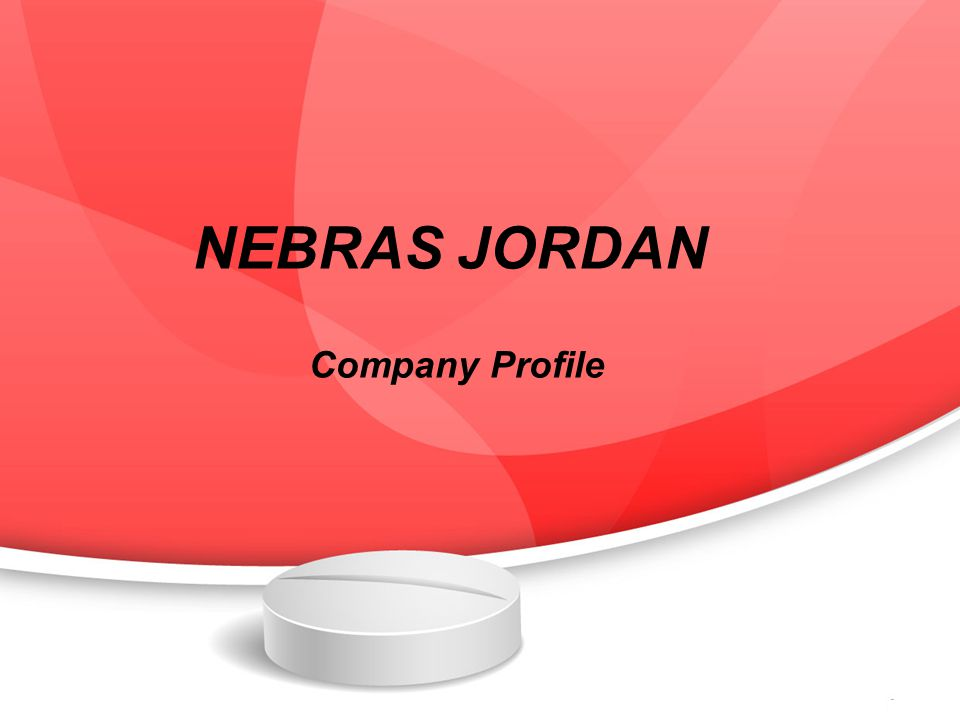 NEBRAS JORDAN Company Profile  Purpose NEBRAS is established