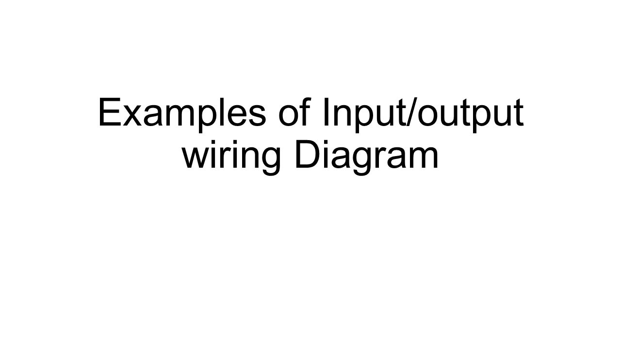 Examples Of Input Output Wiring Diagram Controllogix Ib32 Dc 1
