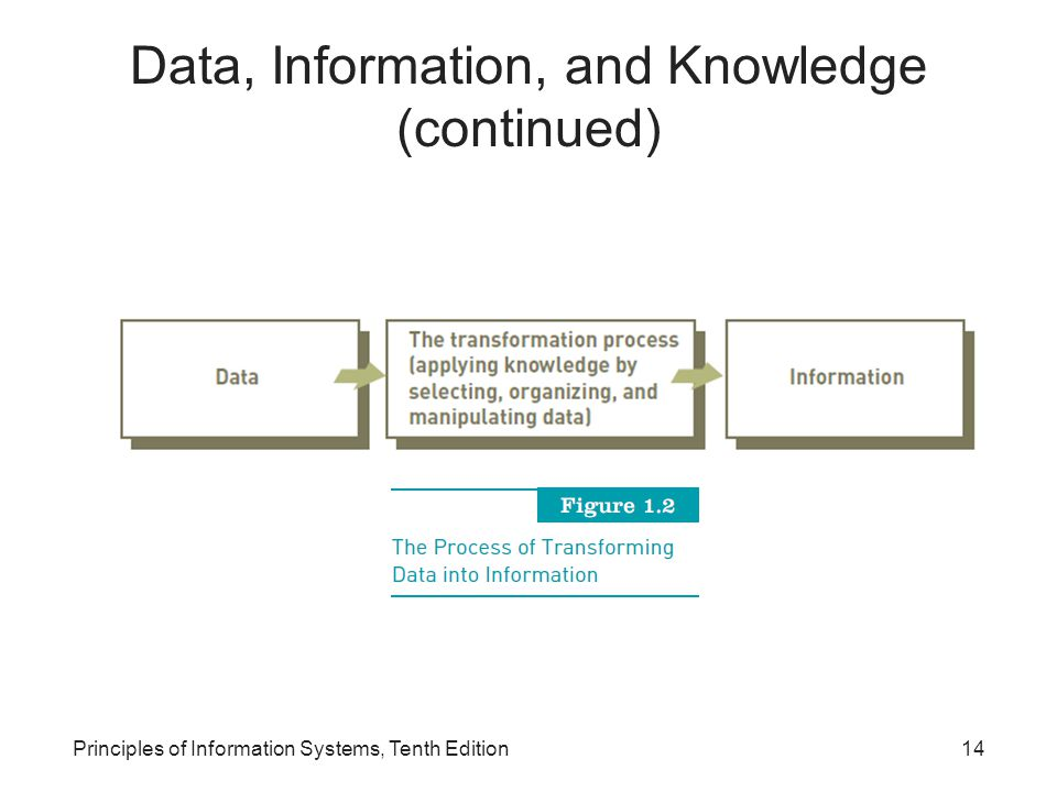 Principles of Information Systems, Tenth Edition14