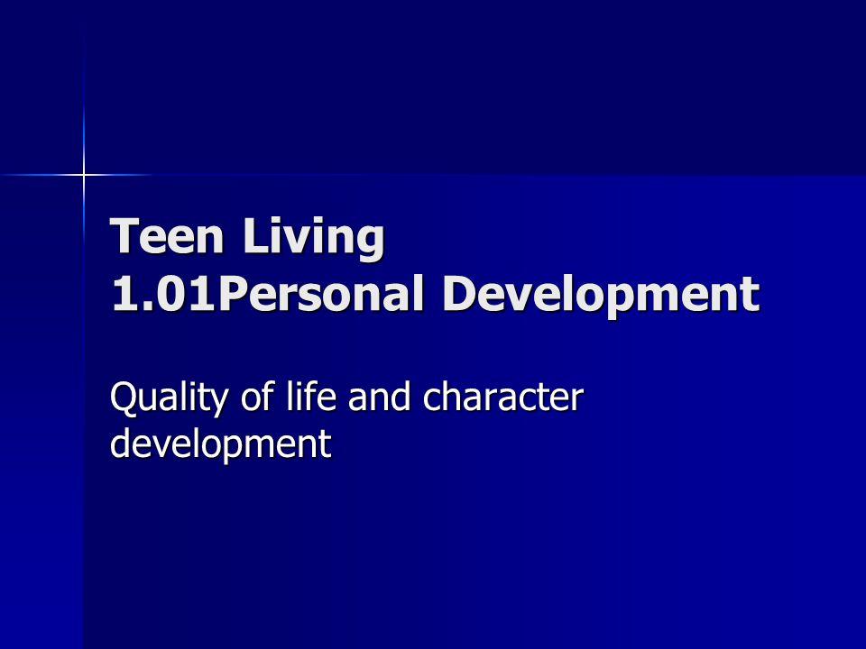 Character development teen