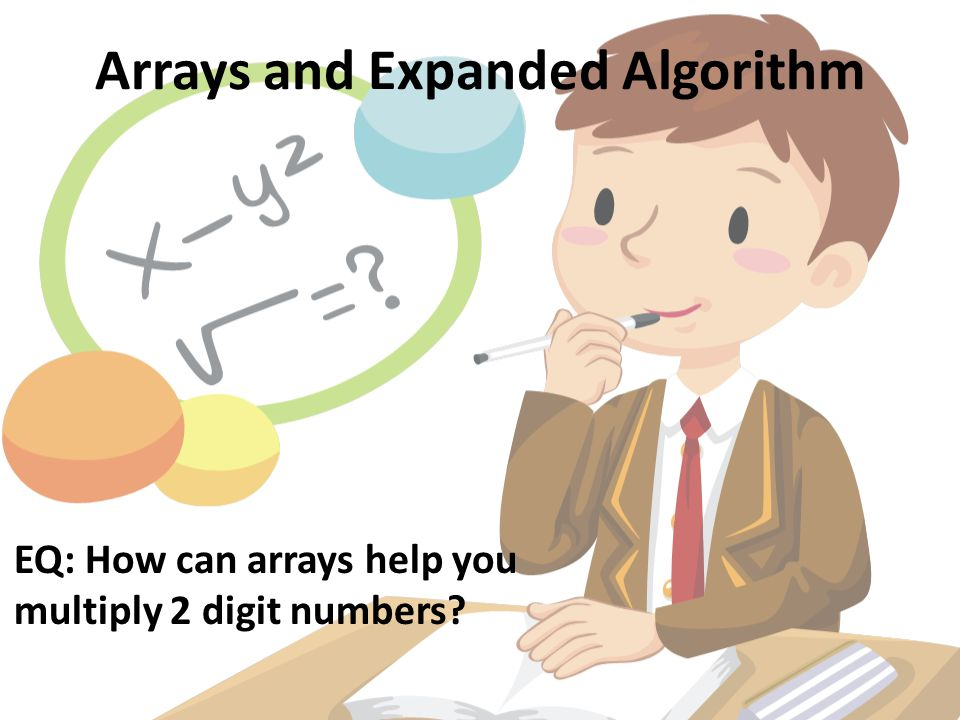 Arrays and Expanded Algorithm EQ: How can arrays help you multiply 2 digit numbers