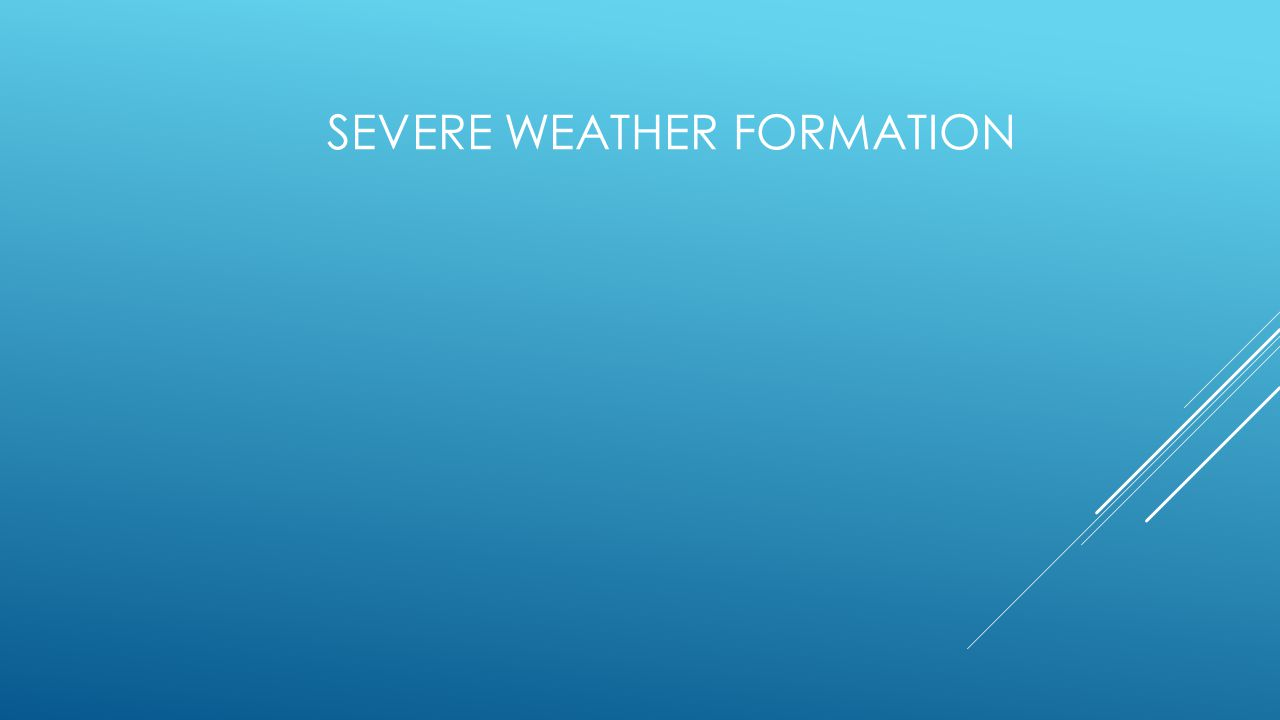  Thunderstorms have warm temperatures, moisture, and rising air, which may be supplied by a low-pressure system.