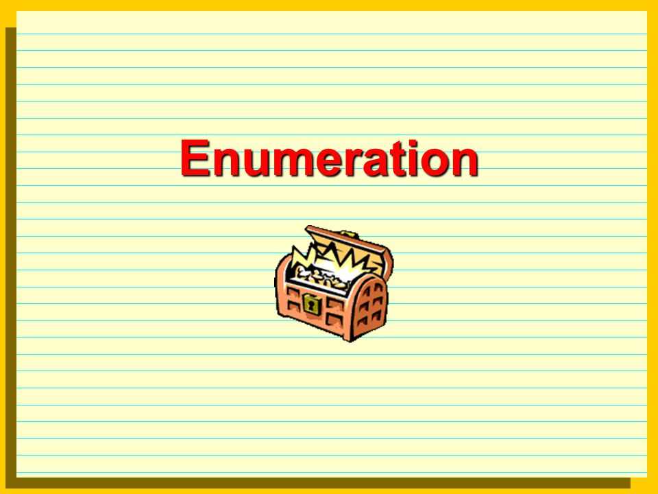 Enumeration  Local IP addresses Local IP addresses (review)  Some
