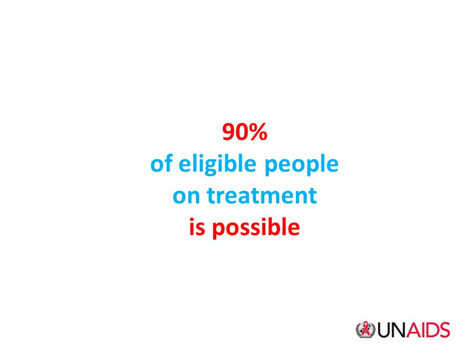 90% of eligible people on treatment is possible