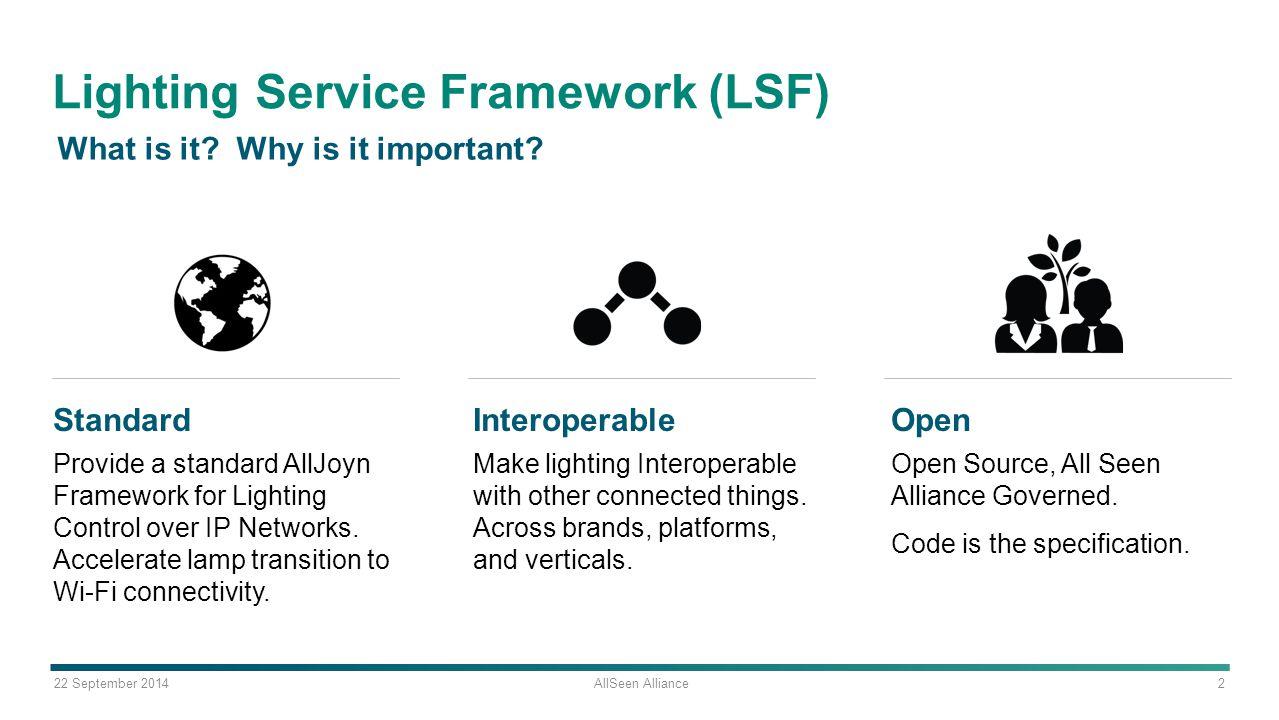 22 september 2014 allseen alliance 1 lighting service framework lsf