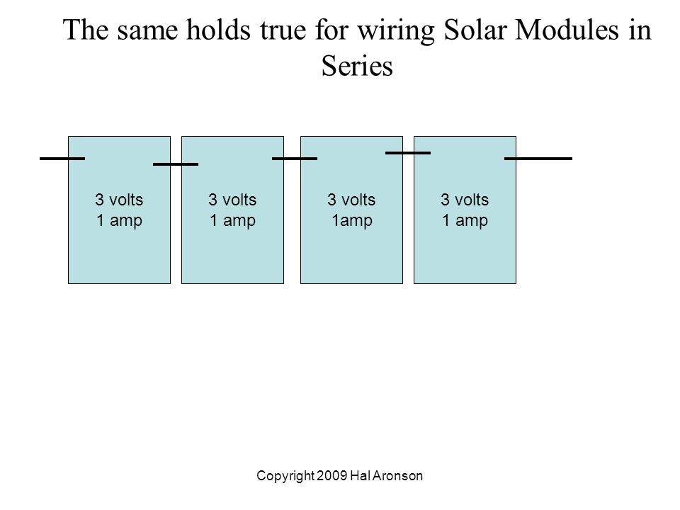 Copyright 2009 Hal Aronson BASIC ELECTRICITY for PVs Part One: Volts ...