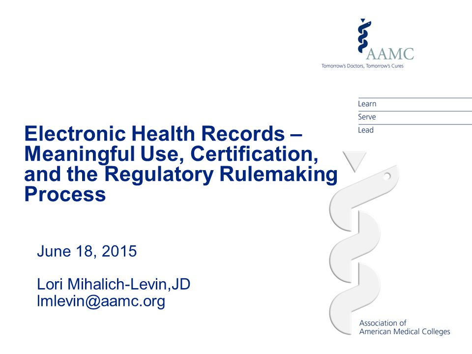 Electronic Health Records Meaningful Use Certification And The