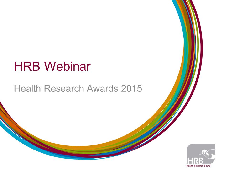 HRB Webinar Health Research Awards 2015