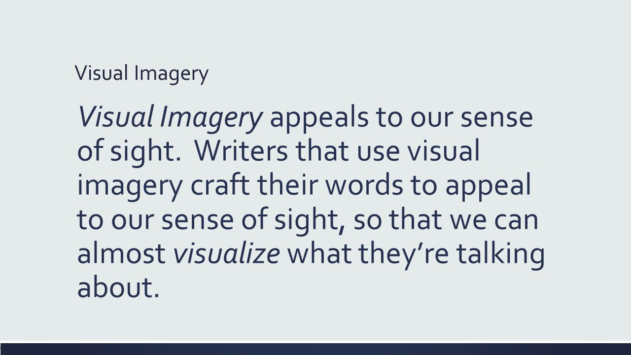 visual imagery words