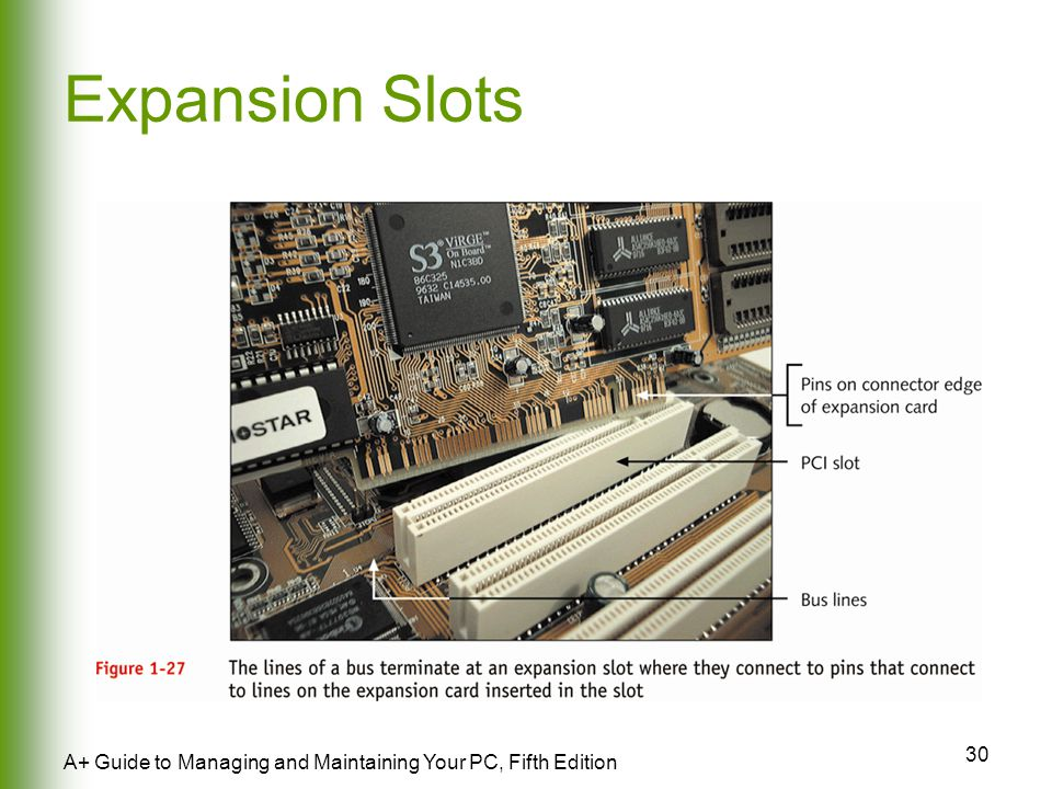 30 A+ Guide to Managing and Maintaining Your PC, Fifth Edition Expansion Slots