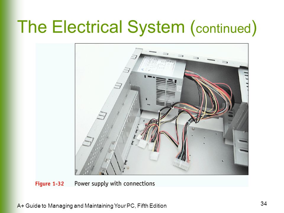 34 A+ Guide to Managing and Maintaining Your PC, Fifth Edition The Electrical System ( continued )