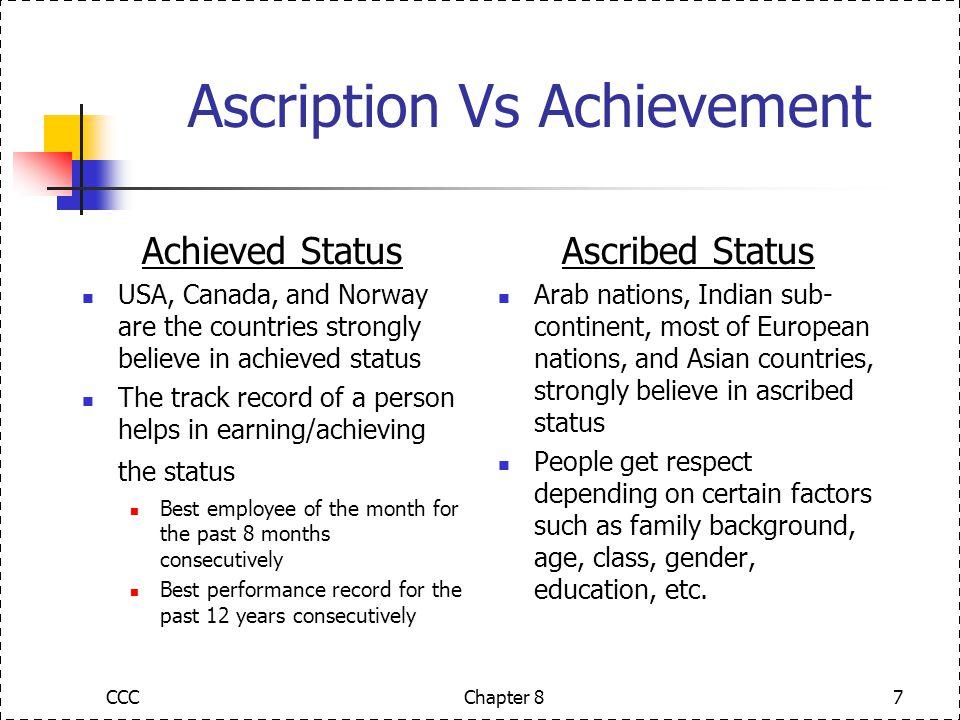 ascribed vs achieved status
