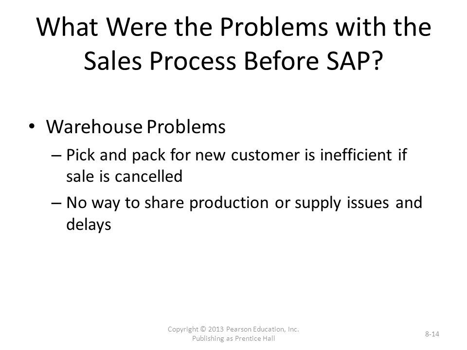 What Were the Problems with the Sales Process Before SAP.