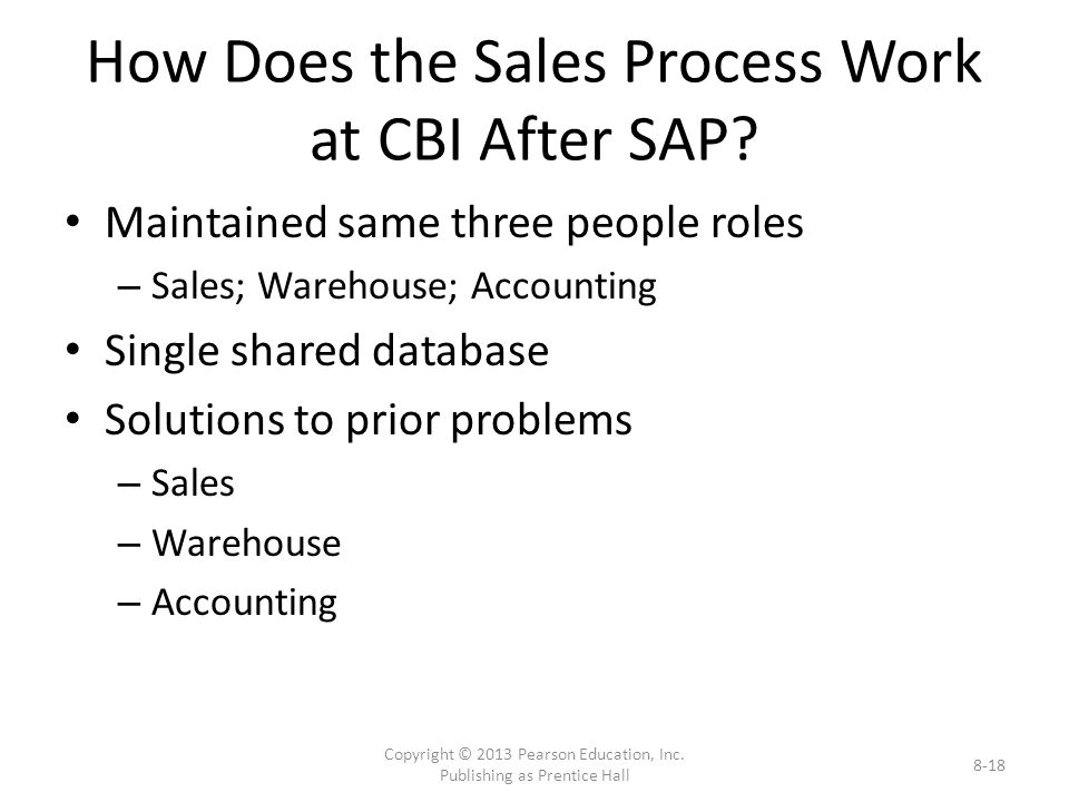 How Does the Sales Process Work at CBI After SAP.