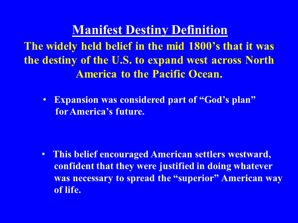 imperialism and manifest destiny