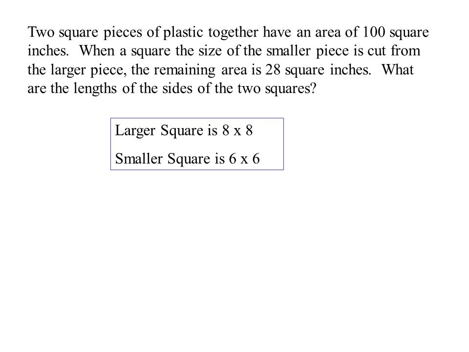 Chapter Using Systems of Second Degree Equations