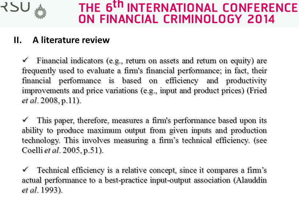 review of literature on financial performance