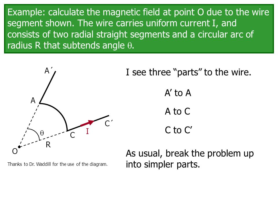 Example calculate the magnetic field at point o due to the wire example calculate the magnetic field at point o due to the wire segment shown keyboard keysfo Choice Image