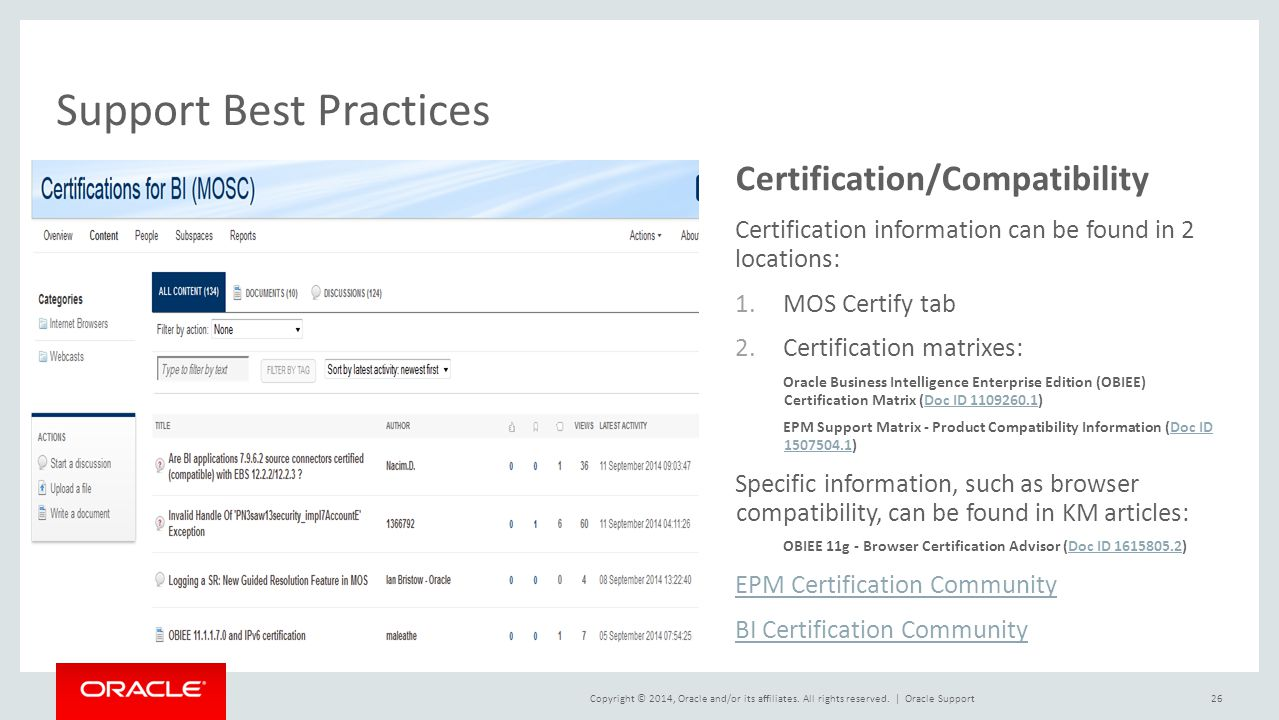 Best Practices for Supporting Oracle Hyperion EPM and Business ...
